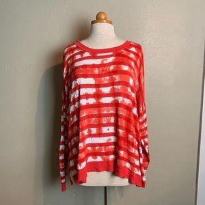 Lane Bryant bright stripe sweater 22 24 kkk2